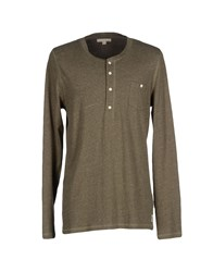 Suit Topwear T Shirts Men Military Green