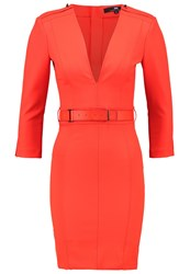 Elisabetta Franchi Shift Dress Lacca Red