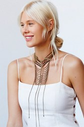 Free People Womens Savannah Stations Necklac