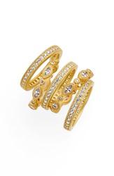 Freida Rothman Stackable Eternity Band Rings Set Of 5 Gold Clear