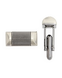 The Men's Store At Bloomingdale's Antique Silver Micro Pyramid Stud Cufflinks Dark Silver