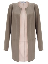 Gerry Weber Faux Suede Jacket Taupe