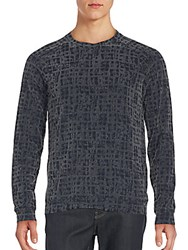 Giorgio Armani Static Print Sweater Grey