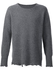 Rta Distressed Jumper Grey