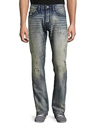 Cult Of Individuality Faded Five Pocket Jeans Super Blue