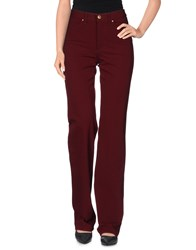 Versace Jeans Couture Trousers Casual Trousers Women Maroon