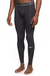 Nike 'Pro Cool Compression' Four Way Stretch Dri Fit Tights Black White