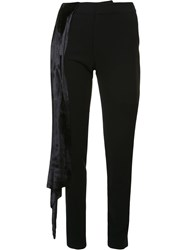Baja East Strap Detail Straight Trousers Black