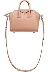 Givenchy Mini Antigona Shoulder Bag In Antique Rose Leather Antique Rose