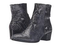 Ecco Shape 35 Snake Print Ankle Boot True Navy Women's Boots