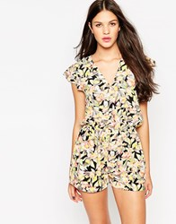 Girls On Film Romper In Ditsy Floral Print