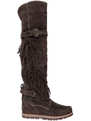 El Vaquero 70Mm Queen Fringed Suede Tall Boots