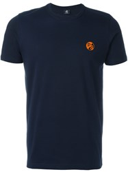Paul Smith Logo Print T Shirt Blue