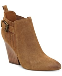 Guess Women's Nicolo Pointed Toe Booties Women's Shoes Brown
