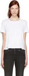 Amo White Twist Cut Out T Shirt