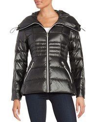 Karl Lagerfeld Fitted Puffer Jacket Black