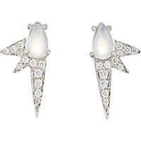 Finn Women's Moonstone Spike Stud Earrings No Color