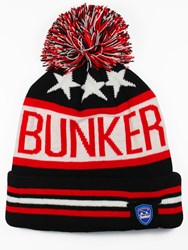 Bunker Mentality Bunker Star Bobble Hat Black