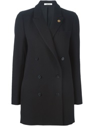 Lardini Double Breasted Coat Black