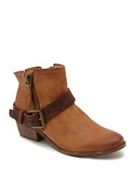 Dolce Vita Leather Zipper Booties Brown