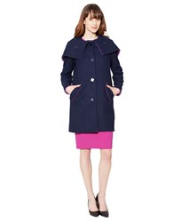 Raoul Wool Blend Hooded Cocoon Coat Ink