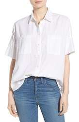 Women's Madewell 'Courier' Cotton Short Sleeve Shirt