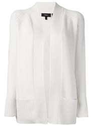 Theory Open Front Cardigan White