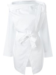 Vivienne Westwood Anglomania Draped Detail Shirt White