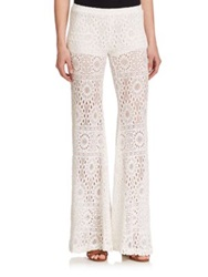 Nightcap Clothing Cherry Blossom Lace Pants White