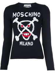 Moschino Skull And Crossbones Sweater Black