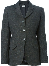 Alaia Vintage Tweed Blazer Green