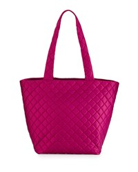Neiman Marcus Sutton Quilted Nylon Tote Bag Sangria