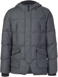 Wooyoungmi Hooded Puffer Jacket Grey