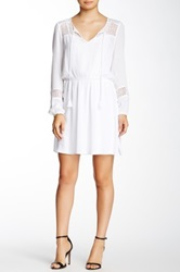 Daniel Rainn Crochet Detail Woven Dress White
