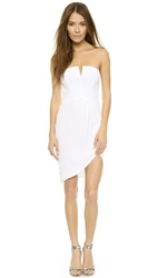 Myne Piper Strapless Dress White