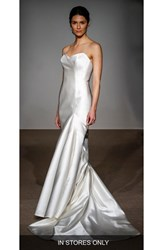 Anna Maier Couture Women's Stefanie Strapless Silk Duchess Satin Mermaid Gown