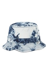 Men's True Religion Brand Jeans Bleached Denim Reversible Bucket Hat