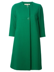 L'autre Chose Ruched Boxy Overcoat Green