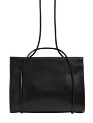 Ann Demeulemeester Brushed Leather Large Top Handle Bag