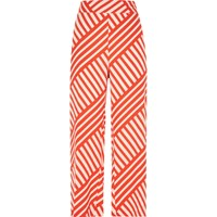 River Island Womens Red Stripe Wide Leg Trousers