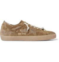 Golden Goose Deluxe Brand Superstar Distressed Suede Sneakers Army Green