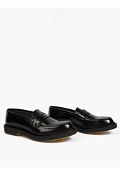 Adieu Black Leather Type 5' Penny Loafers