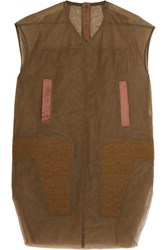 Rick Owens Paneled Mesh Tunic Brown