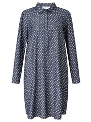 John Lewis Collection Weekend By Ditsy Print Denim Dress Indigo
