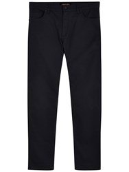 Jaeger Twill Modern Trousers Navy