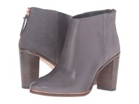 Ted Baker Lorca 3 Dark Grey Leather Suede Women's Boots Gray