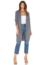 Vince Side Slit Cardigan Gray