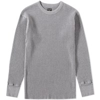 Homespun Long Sleeve Waffle Tee Grey