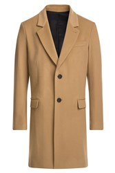 Ami Alexandre Mattiussi Wool Coat With Cashmere Camel