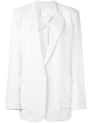 Dkny Pure One Button Blazer Nude Neutrals